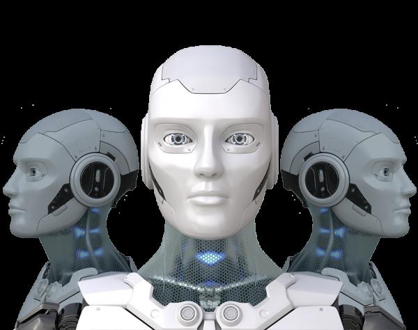 drie robots die de A.I. functie representeren binnen M-Files.