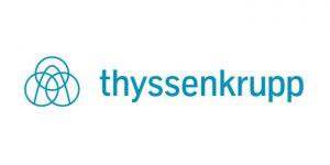 Thyssenkrupp logo, klant bij Benelux Group.